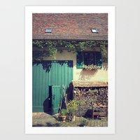 Simple Village Art Print