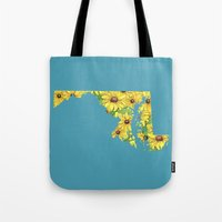 Maryland In Flowers Tote Bag