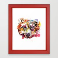 Vivid Grizzly Framed Art Print