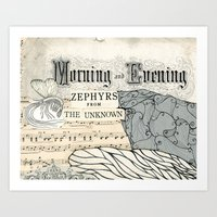 Morning And Evening Art Print