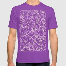 Ab Fan Grey And Nude Mens Fitted Tee Ultraviolet SMALL