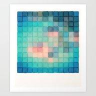 Polaroid Pixels VI (Crab… Art Print