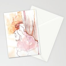 Cloud Mouth: Orange and Magenta Stationery Cards