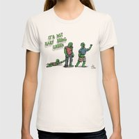 It's Not Easy Being Gree… Womens Fitted Tee Natural SMALL