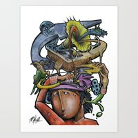 Crazy 4 Music - Mr.Klevr… Art Print