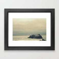 So Far Away Framed Art Print