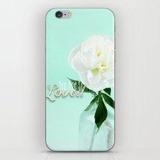 You Are So Loved - Peony in Aqua iPhone & iPod Skin