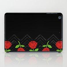 Rose Outline   Floral iPad Case