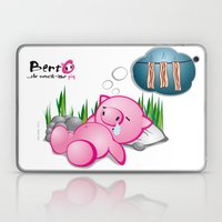 Berto: The Mental-issue pig taking a nap Laptop & iPad Skin