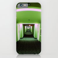 iPhone & iPod Case featuring Green corridor by kreatox
