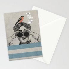 she wants to see the world Stationery Cards