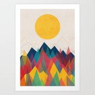 Uphill Battle Art Print
