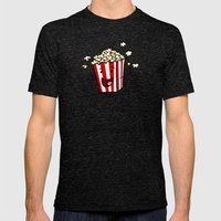 Buttered Popcorn Mens Fitted Tee Tri-Black SMALL