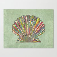 Canvas Print featuring Sea Shell by Elephant Trunk Studio