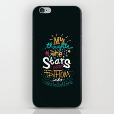 My Thoughts Are Stars iPhone & iPod Skin