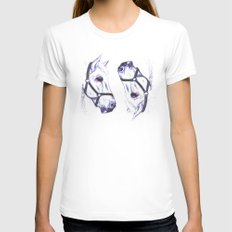 Mighty Horses Womens Fitted Tee White SMALL