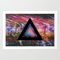 Marble Triangle Art Print