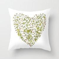 Nature Heart Throw Pillow