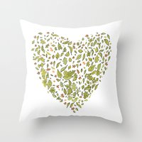 Nature heart Throw Pillow