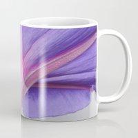 Macro of a Pale Liliac and Pink Morning Glory Mug