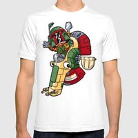 Boba The Bountyhunter Mens Fitted Tee White SMALL