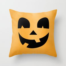 Silly Jack-O-Lantern Throw Pillow
