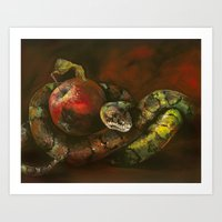The Asp And The Apple Art Print
