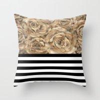 Bouquet Of Tan Throw Pillow
