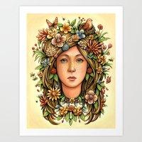 Mother Nature's Daughter Art Print