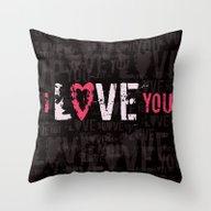 I Love You II Throw Pillow