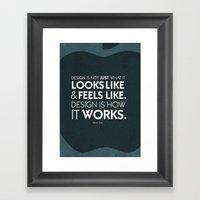 Typographic Quote Design  [Steve Jobs] Framed Art Print