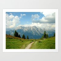 Mountain Range in Austria Art Print