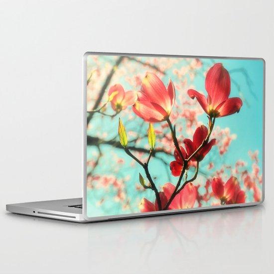 Spring dogwood blossoms Laptop & iPad Skin