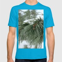 Winter Pine Mens Fitted Tee Teal SMALL