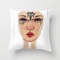 Happy Halloween - White … Throw Pillow