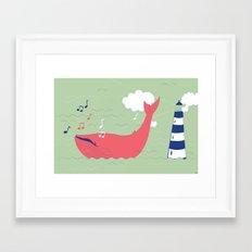 The Singing Whale Framed Art Print