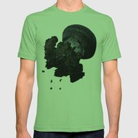 JellyFishi Mens Fitted Tee Grass SMALL