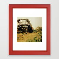Coney Island Framed Art Print