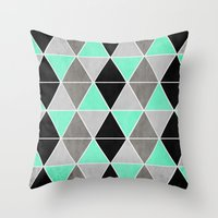 IceGeo Throw Pillow