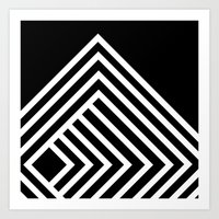 Tremendous Stripe-White&Black Art Print