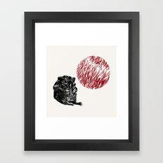Bubble mouse Framed Art Print