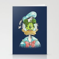 duck magritte Stationery Cards