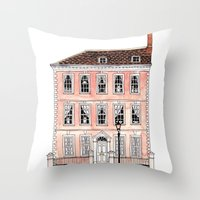 Queens Square Bristol by Charlotte Vallance Throw Pillow