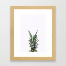White Pineapple Framed Art Print