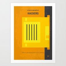 No684 My Hackers minimal movie poster Art Print