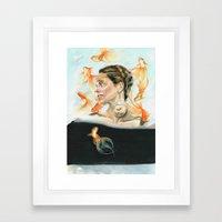 Goldfish Halo Framed Art Print