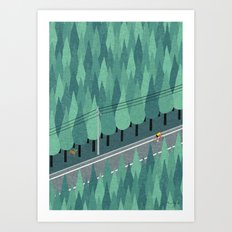 Cycling Art Print
