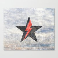 BlackStarMan (waiting in the sky) Canvas Print
