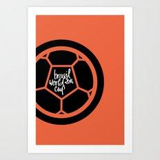 Brazil World Cup 2014 - Poster n°2 Art Print