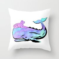 Oh, Whale! Throw Pillow
